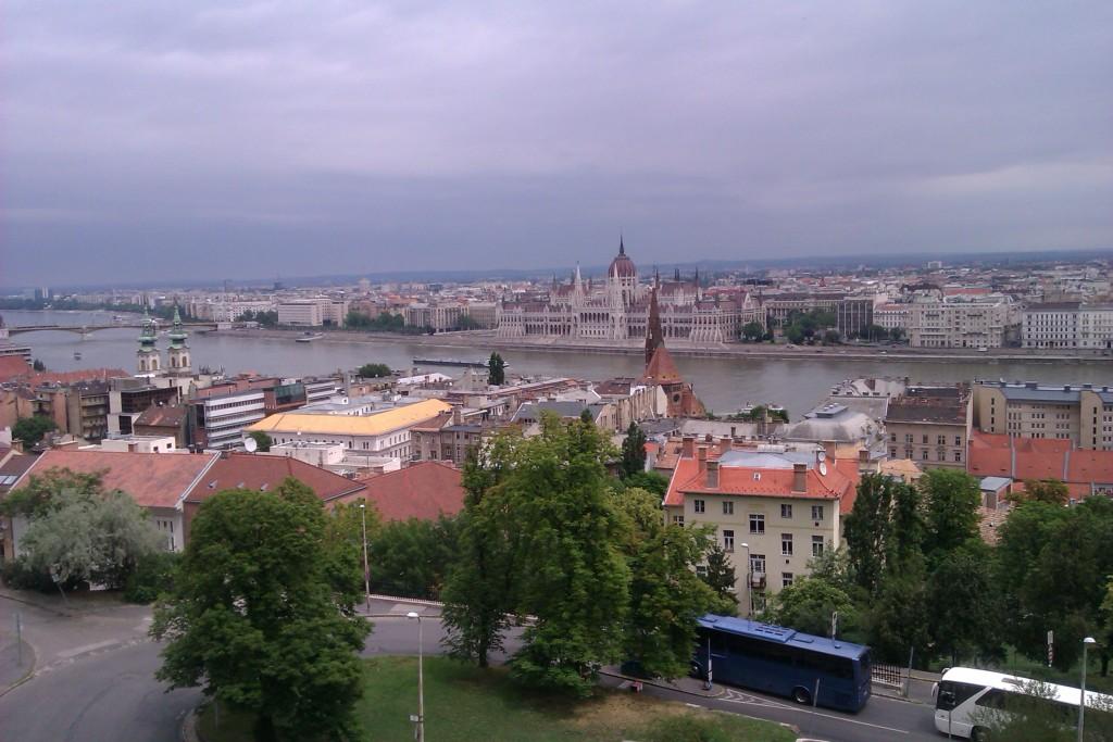 Vistas de la ciudad de Budapest, Hungría, junio 2012