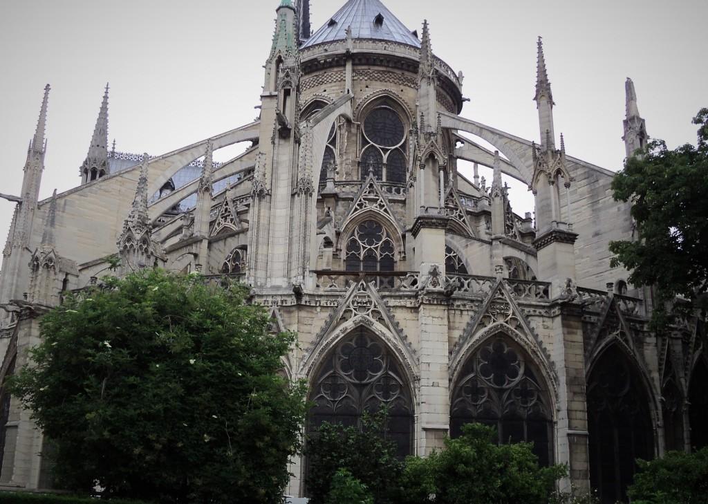 Catedral de Notre Dame, París, Francia, Junio 2013 - viajarcaminando.org