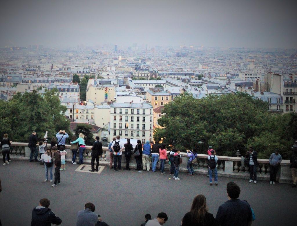 Vistas de Paris desde La Basílica del Sagrado Corazón, París, Francia, junio 2013 - París en dos días - viajarcaminando.org