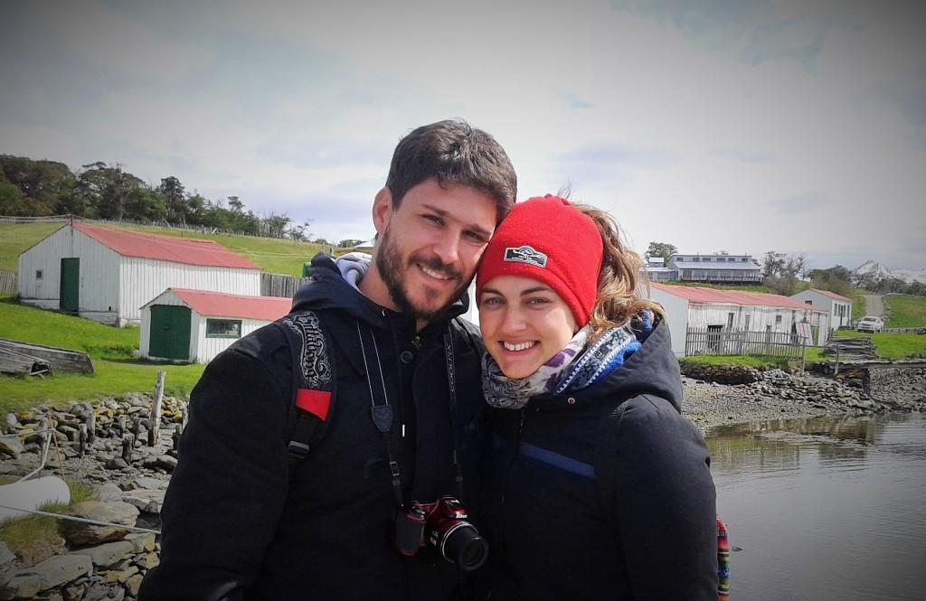 David y Rominita, Estancia Harberton, Tierra del Fuego, Argentina