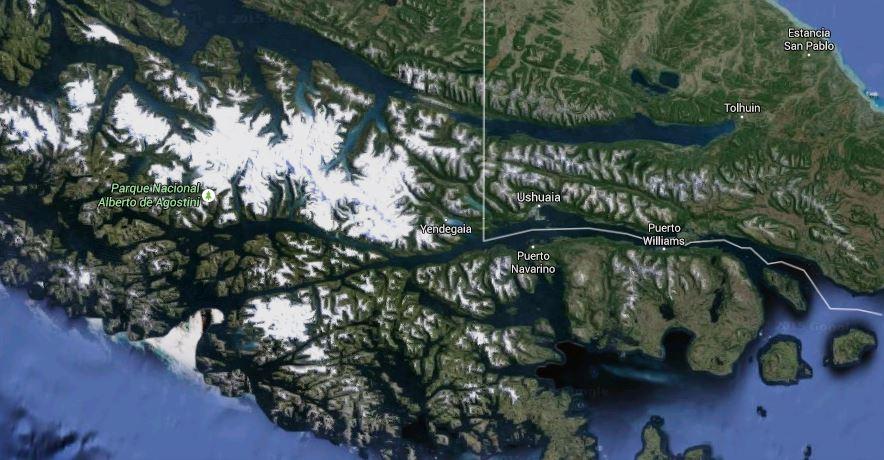 Mapa Ushuaia