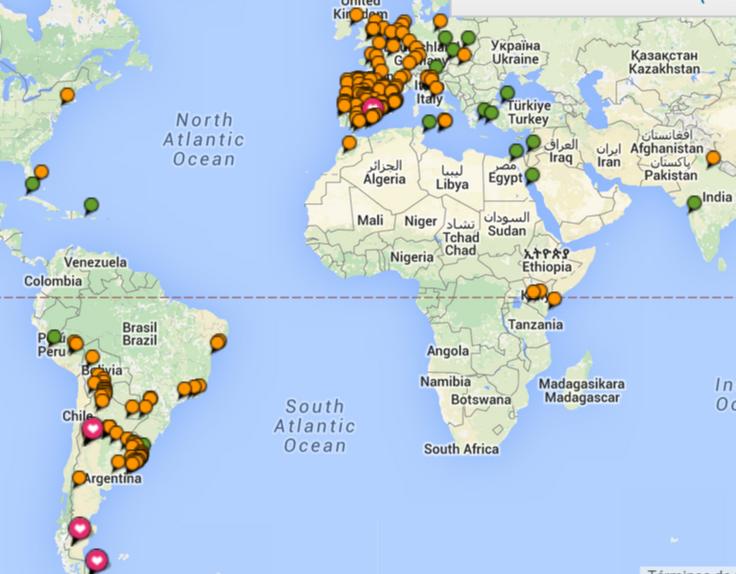 Ciudades visitadas por rominitaviajera a Septiembre de 2015 - viajarcaminando.org