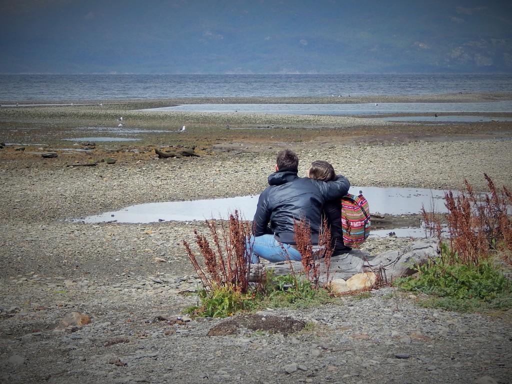 Juntos en Ushuaia, Tierra del Fuego, Argentina, Noviembre 2014 - viajarcaminando.org