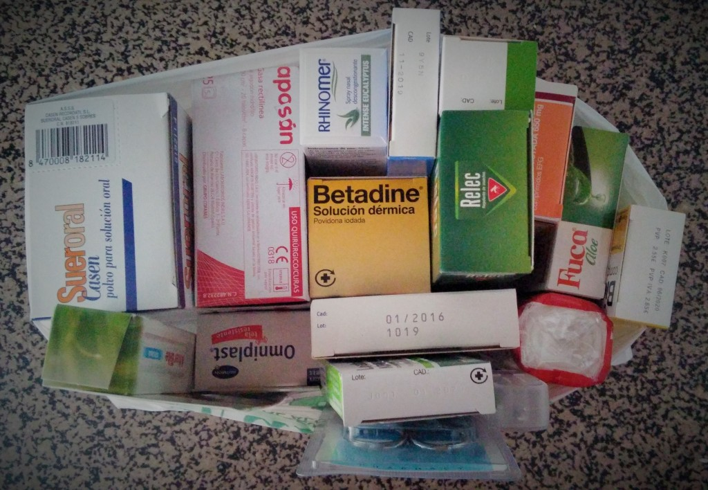 Medicamentos para mi Botiquín de primeros auxilios, listo antes de viajar al Sudeste Asiático