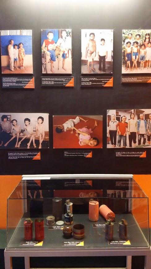 Imágenes de los horrores posteriores, Museo de la Guerra, Ho Chi Minh, Vietnam