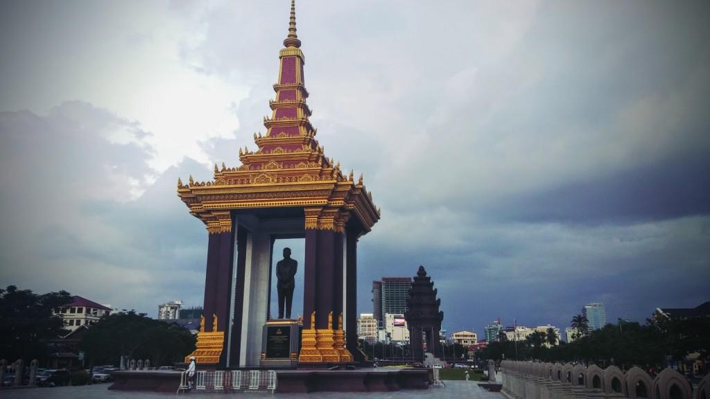 Monumento a la Independencia de Camboya, Phnom Penh, Camboya, Octubre 2015