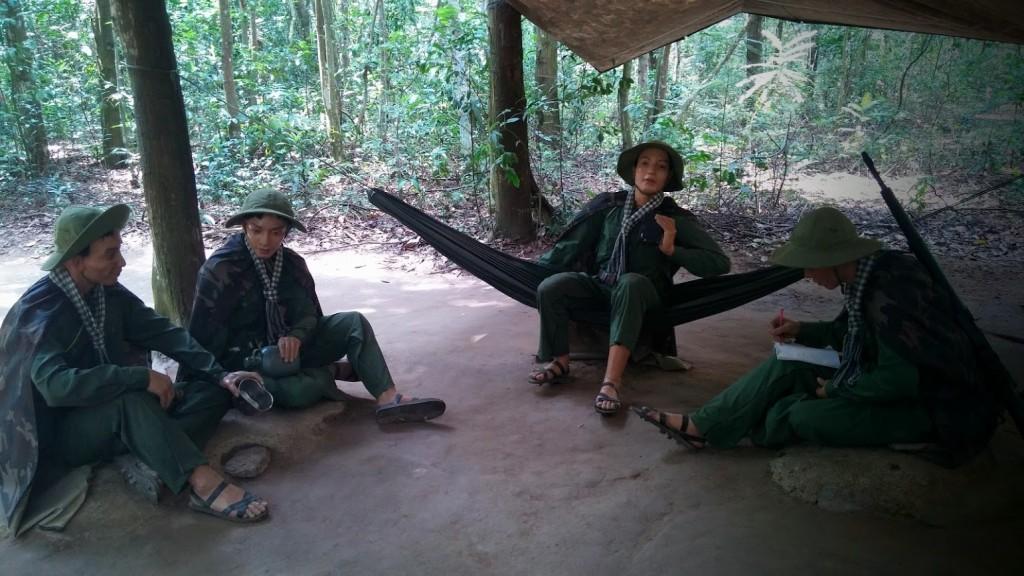 Soldados del Viet Cong en Cu Chi, Vietnam