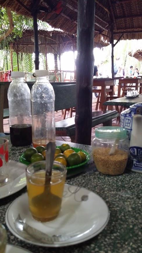 Té con miel y jalea real, Unicorn Island, Mekong River, Vietnam, 2015