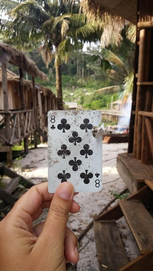 Naipe roto ocho de trebol, Ko Rong, Camboya, viaje 2015
