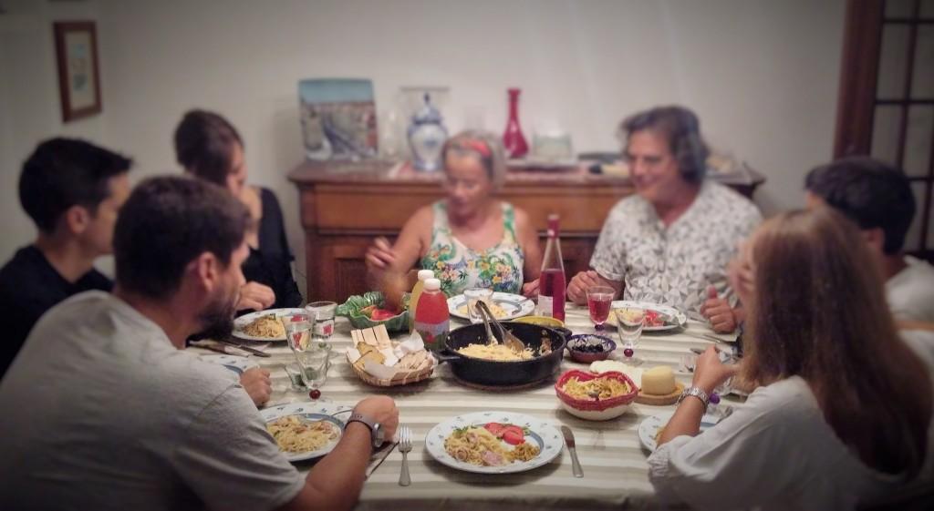 Comida en familia, Alcobaça, Portugal, 2015