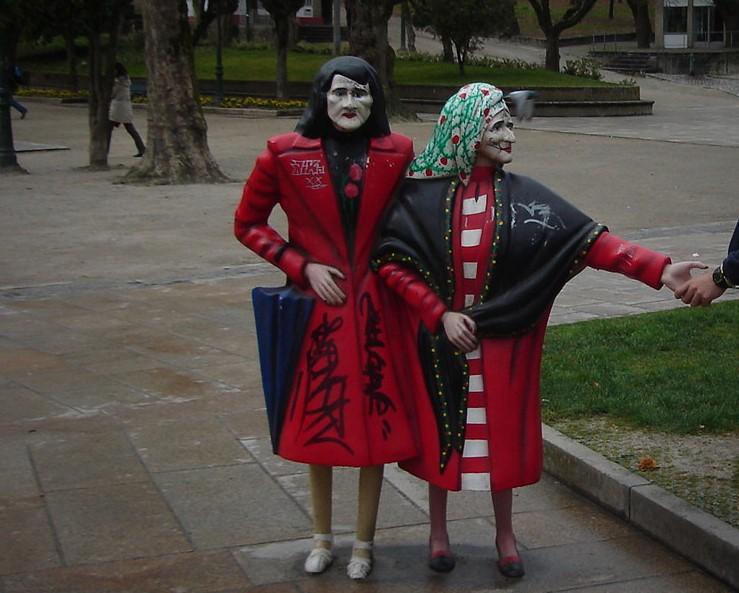 Las Dos Marías, Parque de la Alameda, Santiago de Compostela, Galicia, España, 2008