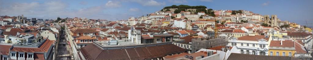 Panorámica de Lisboa desde Arco Triunfal de Augusta, Lisboa, Portugal, 2015
