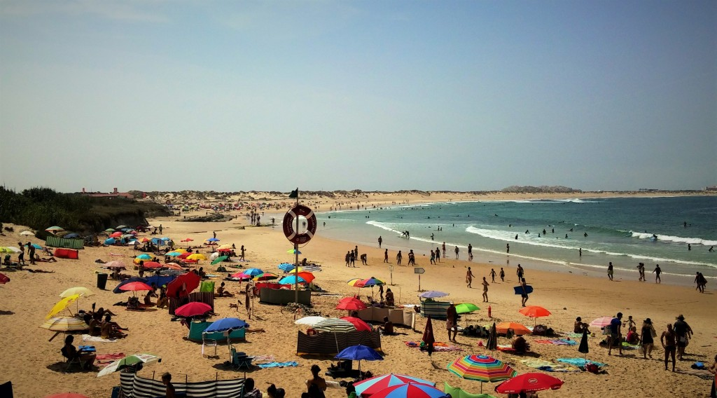 Playa Baleal donde practicamos surf, Portugal, 2015