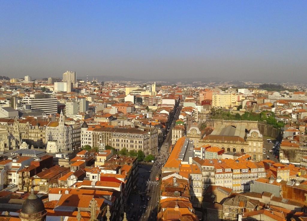 Vistas desde la Torre de los Clérigos, Oporto, Portugal, 2014