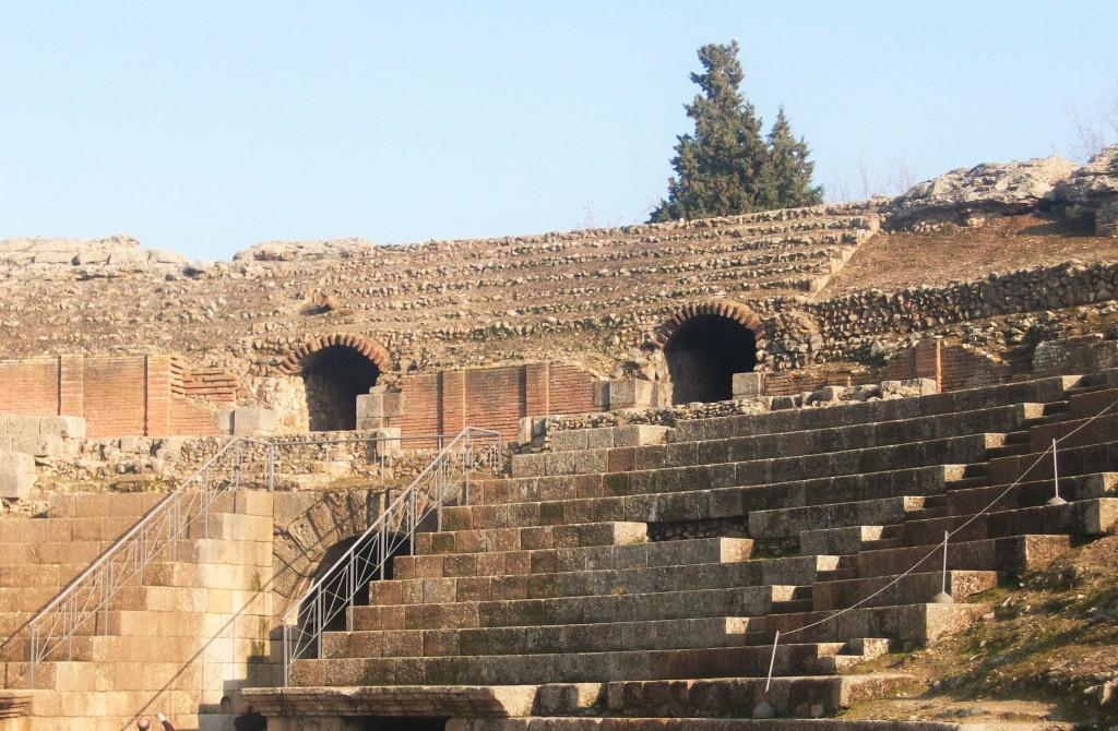 Anfiteatro romano, Mérida, España, Marzo 2010
