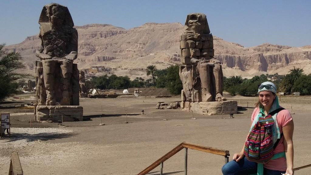 Los Colosos de Memnón, Luxor, Egipto, marzo 2016 | viajarcaminando.org
