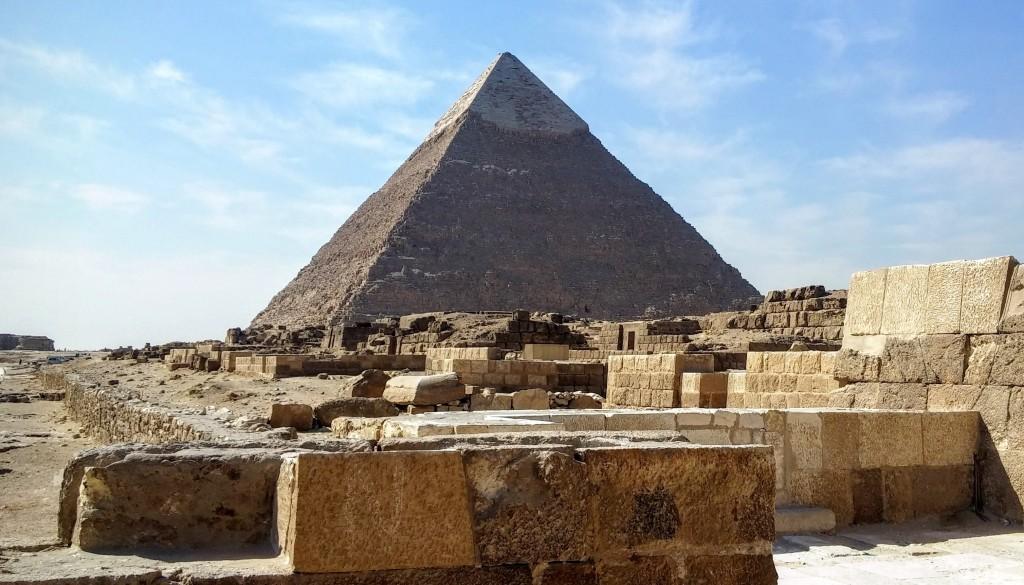 Pirámide de Kefren, Meceta de Guiza, El Cairo, Egipto, marzo 2016