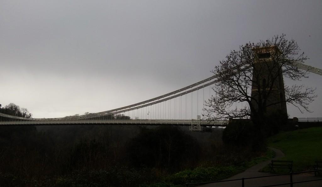 INVIERNO - Puente colgante de Clifton, Bristol, Inglaterra, enero 2016