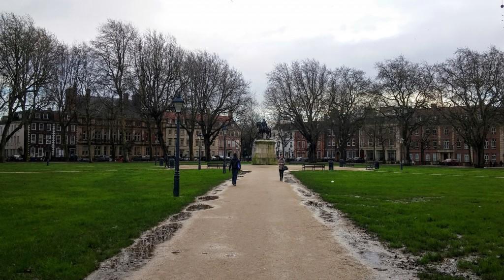 Queen Square, Bristol, Inglaterra, enero 2016