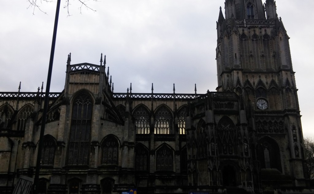 St Mary Redcliffe Church, Bristol, Inglaterra, enero 2016