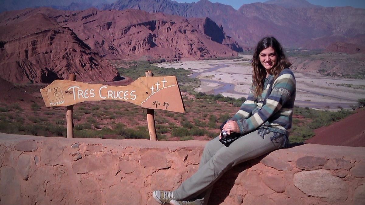 @rominitaviajera en el Mirador Tres Cruces, Quebrada de las Conchas, Salta, Argentina, abril 2013 | viajarcaminando.org