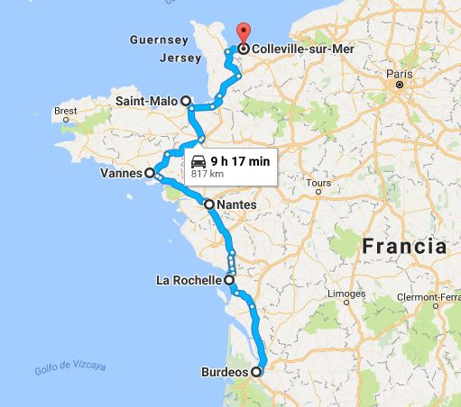 Ruta en coche por Normandía y Bretaña, Francia, 2010