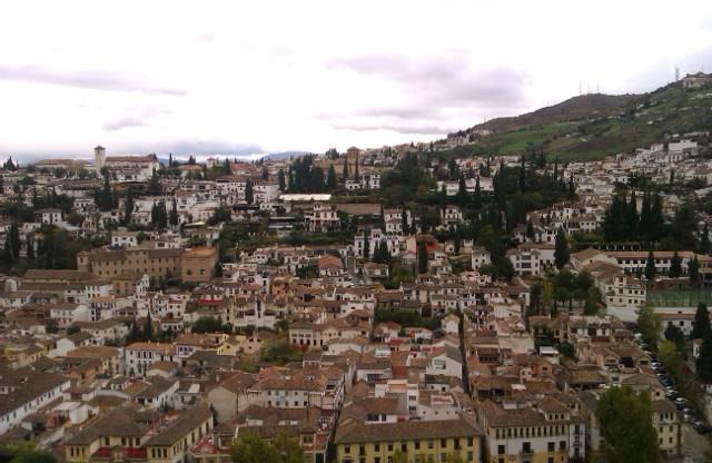 Vistas del Albaicín desde La Alhambra, Granada, España, 2010
