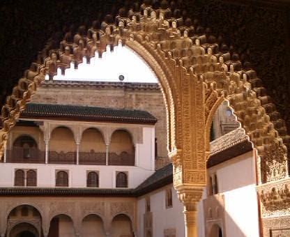 Interiores de La Alhambra, Granada, 2010