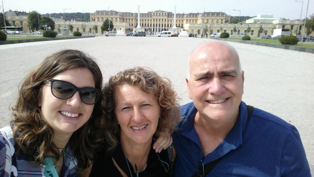 Con mis papis en Viena, Austria, junio 2016