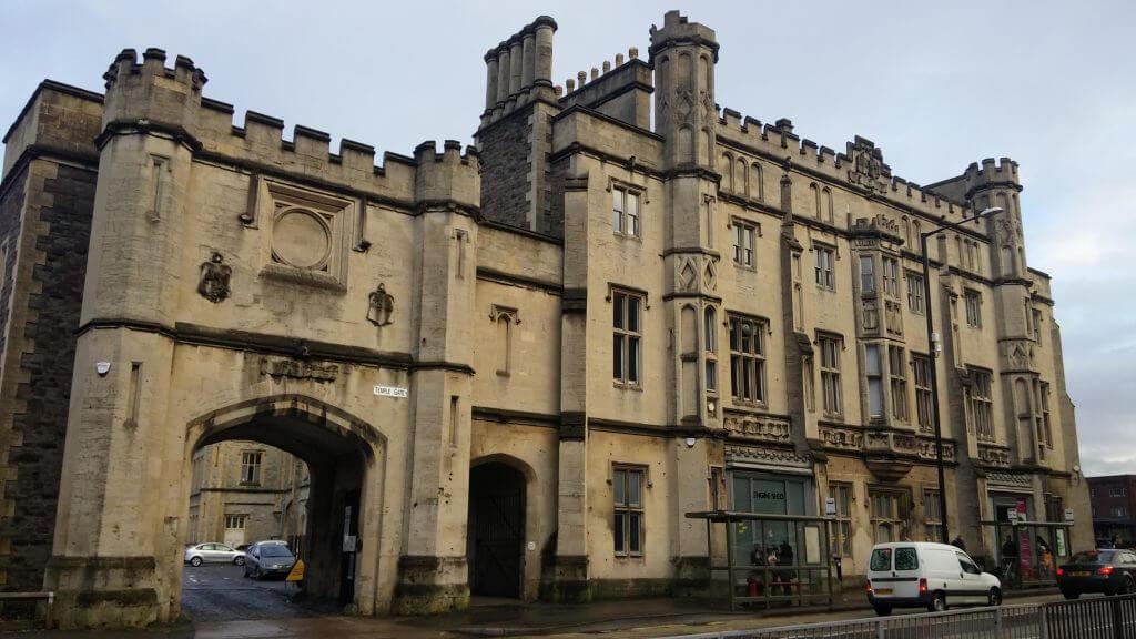 Edificios antiguos de Bristol, Inglaterra, enero 2016
