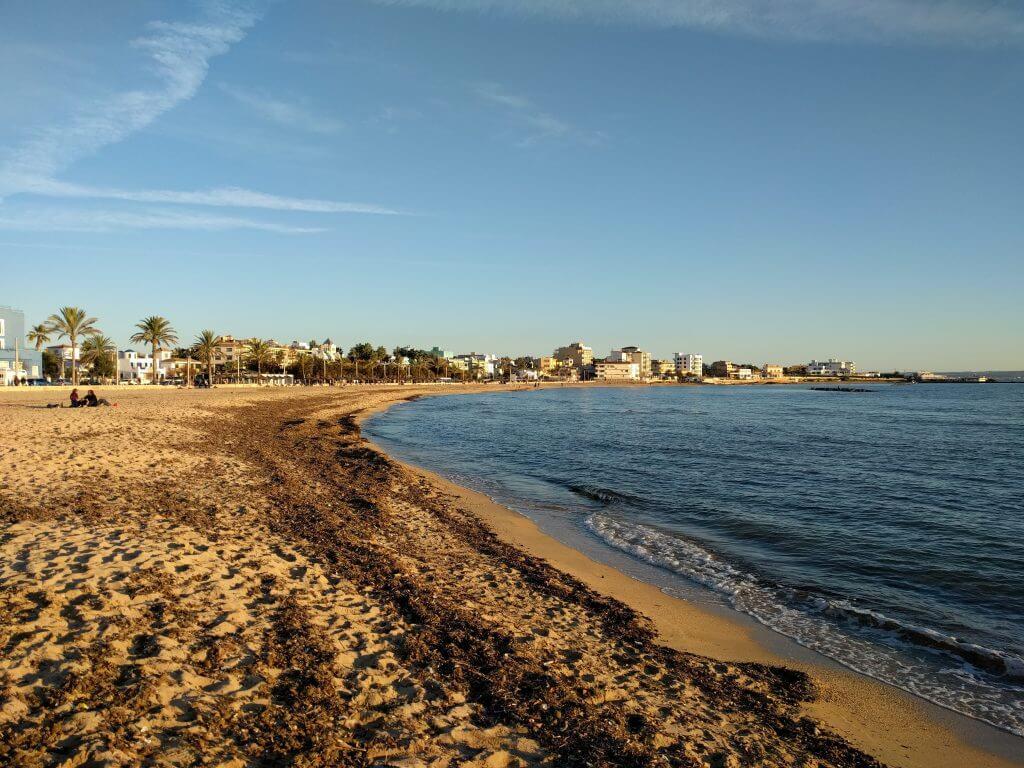 Playa de Ciduad Jardín, Mallorca, diciembre 2016