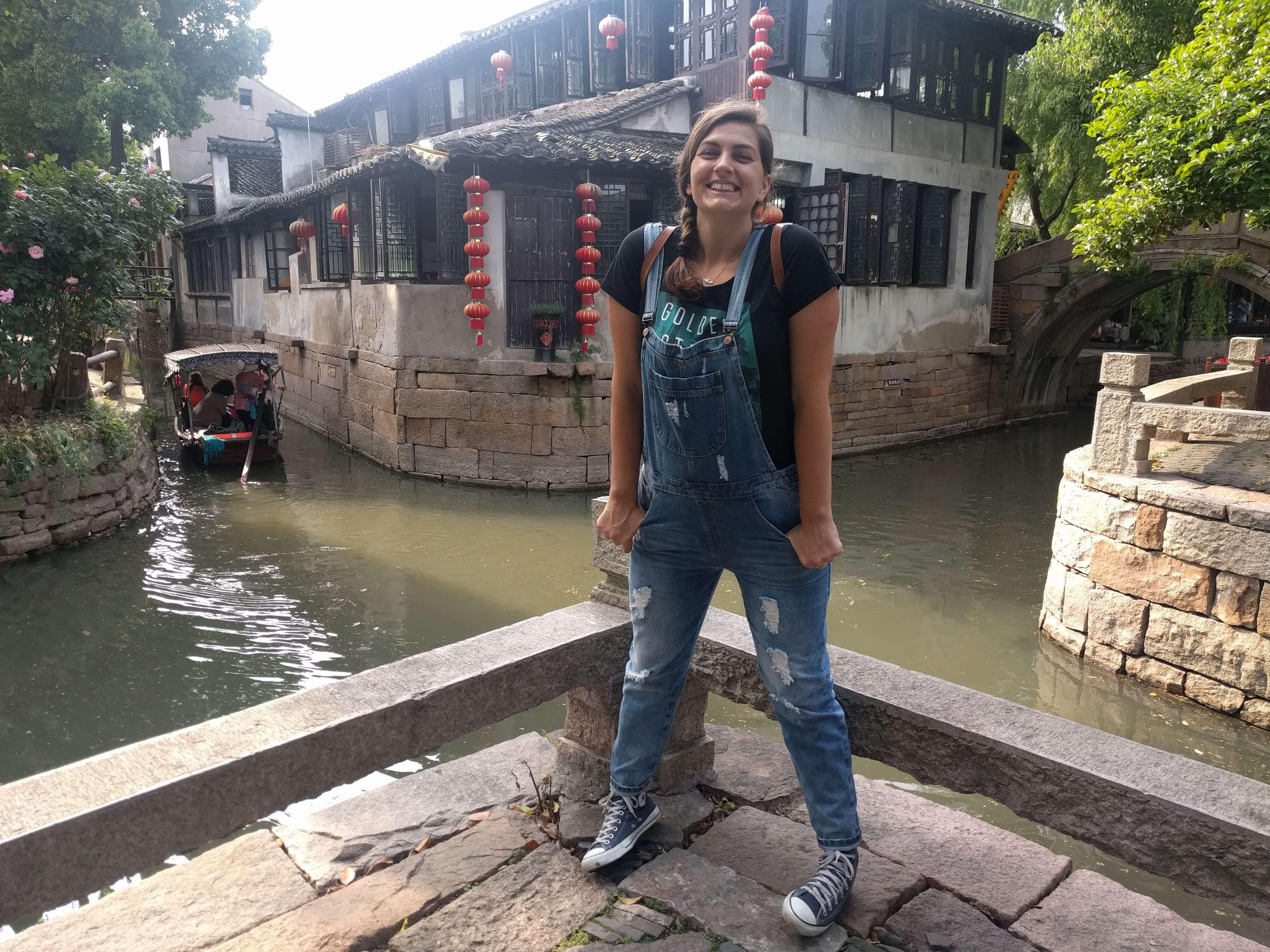 @rominitaviajera en Luzhi, pueblo con canales cerca de Shanghái, China, 2017
