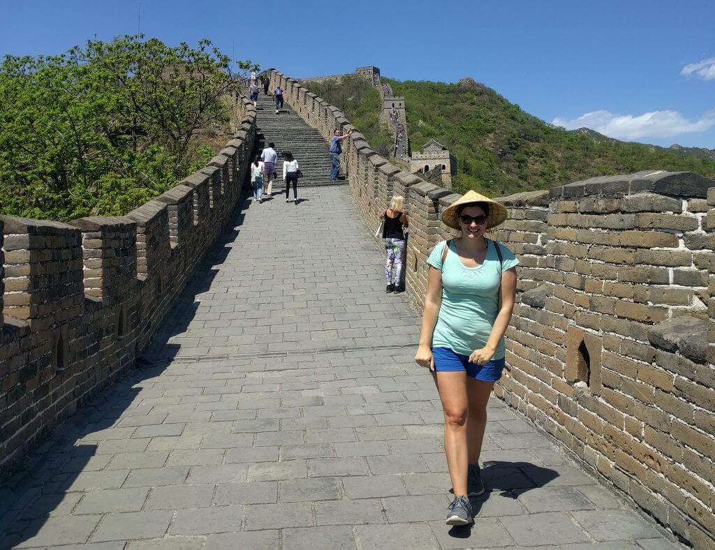 @rominitaviajera caminando por la Muralla China de Mutianyu, China 2017