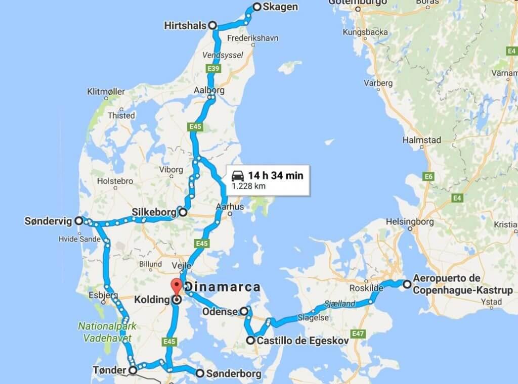 Ruta por Dinamarca en coche 8 días, rominitaviajera.com