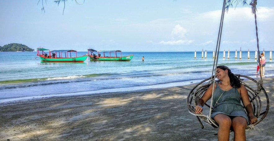 En Odres Beach, Sihanoukville, en el sur de Camboya 2015 | rominitaviajera.com
